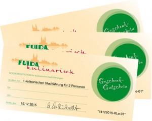 Gutschein für eine kulinarische Stadtführung in Fulda
